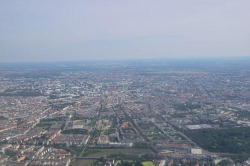 機内から見たベルリンの街並み