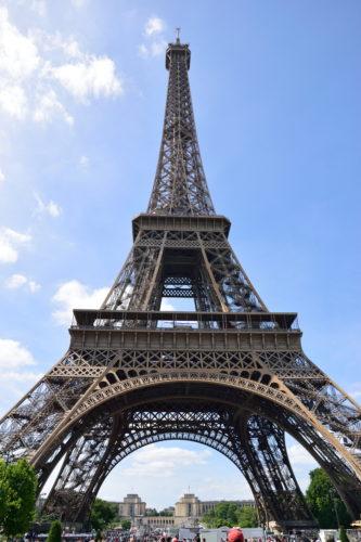 公園側から見たエッフェル塔
