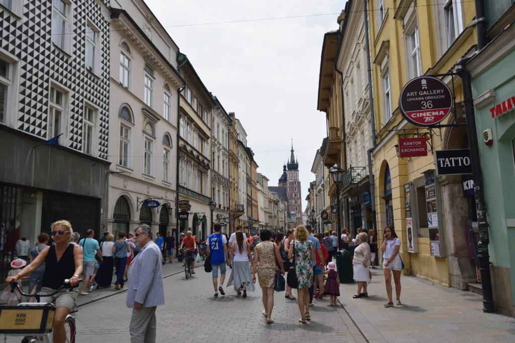 クラクフ旧市街の街並み