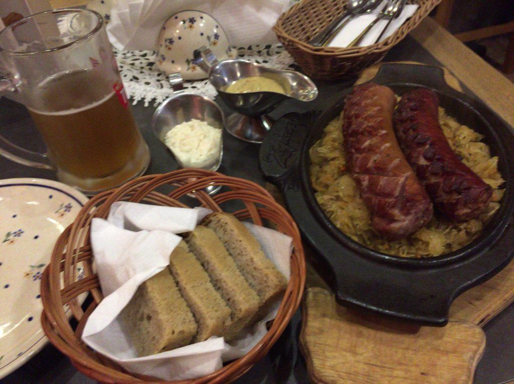ポーランド料理のソーセージ