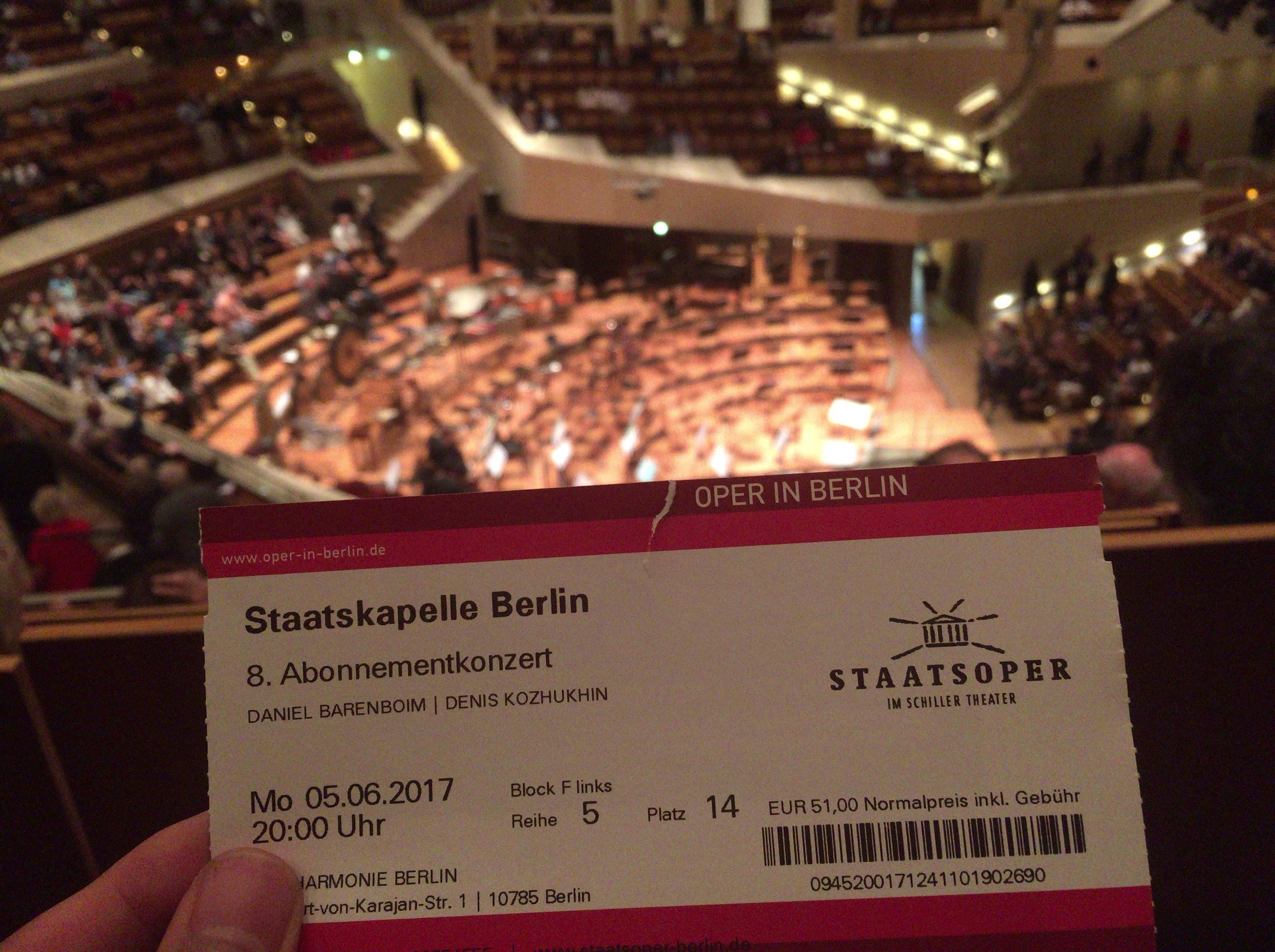 ベルリン歌劇場管弦楽団の公演をBerlin Philharmonieの会場で観てきました。