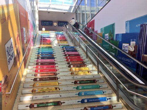 ハノーファー駅の階段