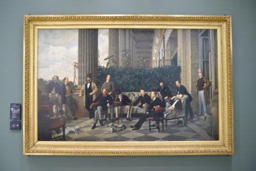 『Le Cercle de la rue Royale』(1868) James Tissot/ジェームズ・ティソ