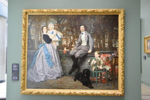 『Portrait du Marquis et de la Marquise de Miramon』(1865) James Tissot/ジェームズ・ティソ