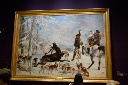 『L'Hallali du cerf』(1867) Gustave Courbet/グスタフ・クールベ