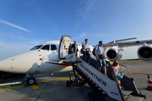AVRO RJ85からの降機