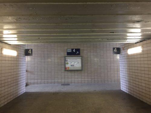 ライト中央駅のシャトルバス乗り場