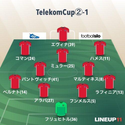 テレコムカップ2試合目の先発メンバー