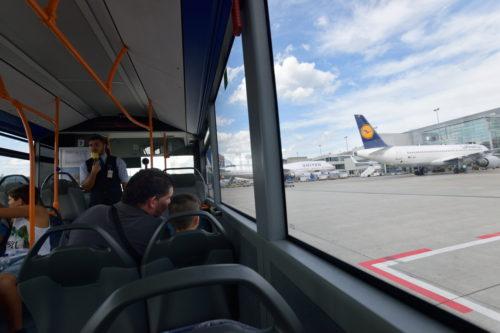 フランクフルト空港のルフトハンザ機駐機場