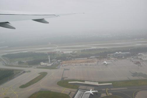 フランクフルト国際空港からテイクオフ