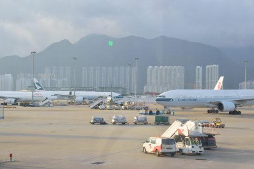 香港国際空港のキャセイパシフィック航空