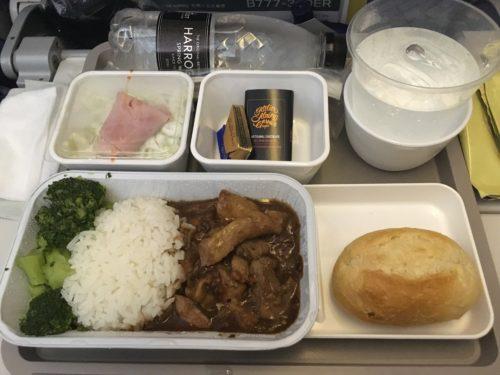 キャセイパシフィック航空の機内食