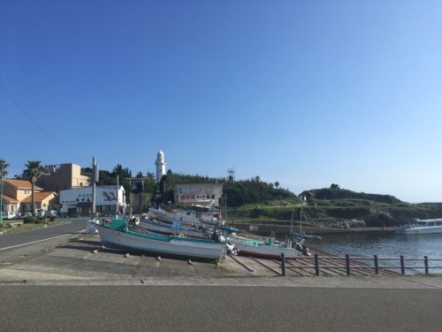 野島崎灯台周辺の街並