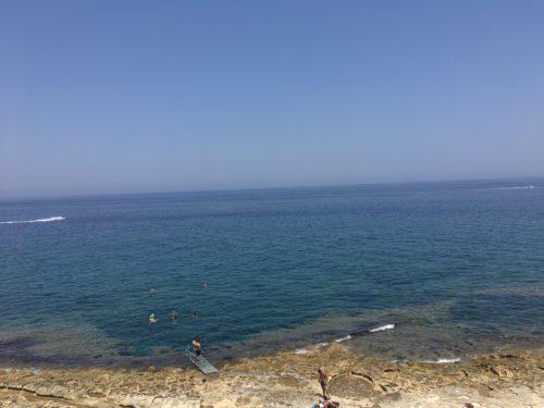 DIVE SYSTEM MALTAの前の海
