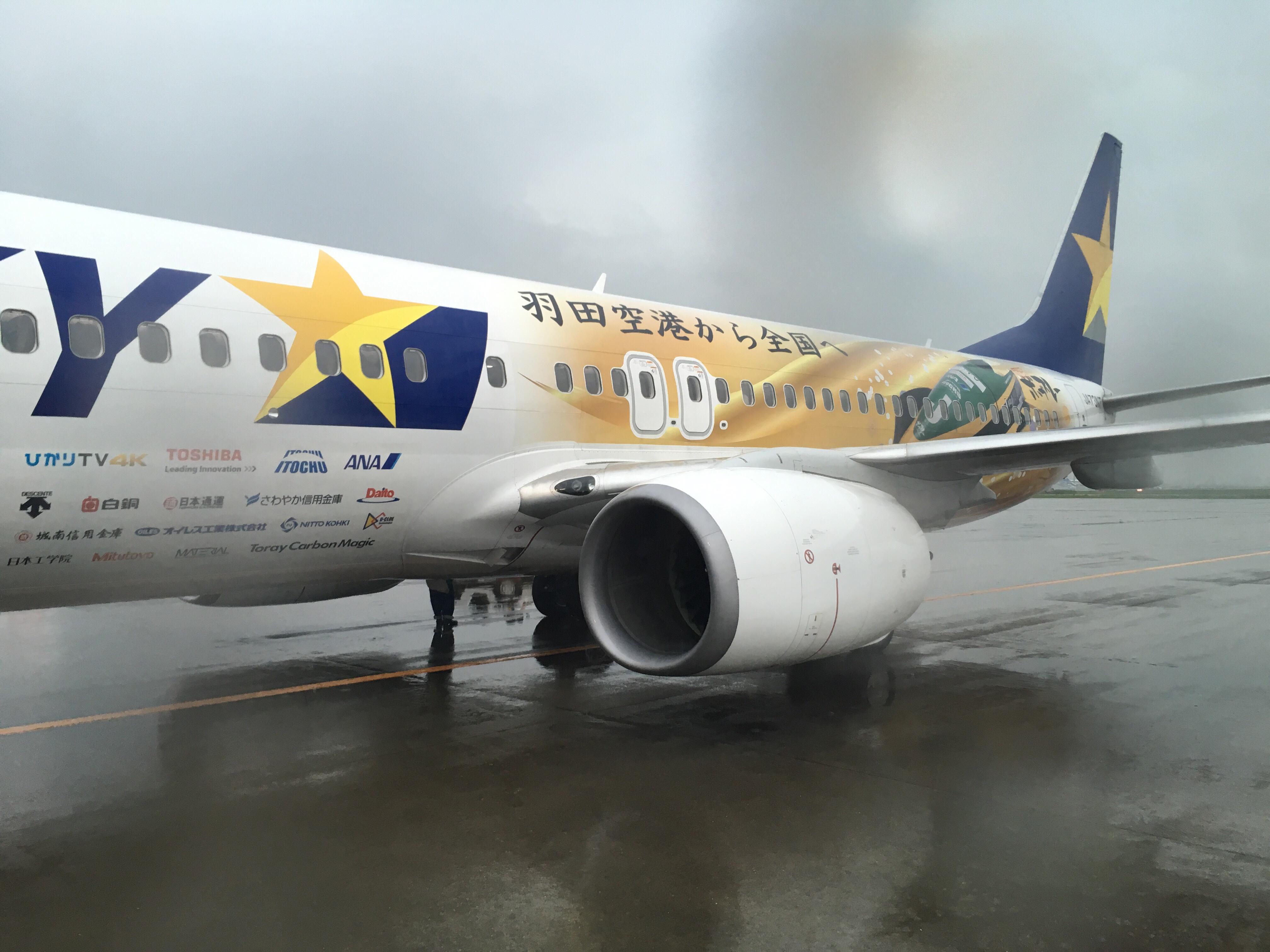 【搭乗記】羽田空港→神戸空港 スカイマークBC113便 B737-86N