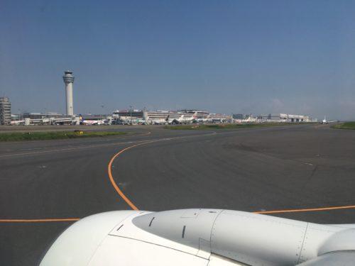 機窓から見た羽田空港