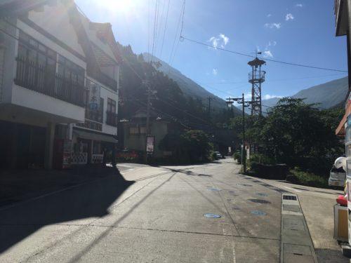 山田温泉のメイン通り