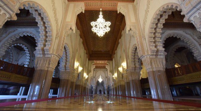 壮大なハッサンⅡ世モスクの内部へ|地球一周旅記DAY22