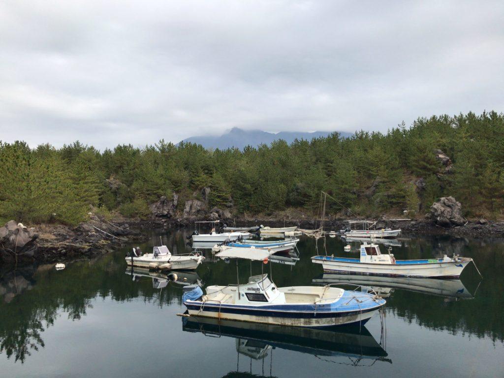 桜島の避難港