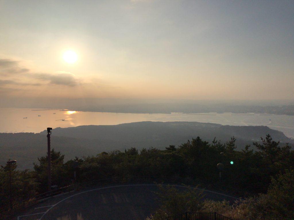 桜島中腹からの眺望